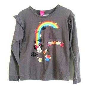 Disney Girls Minnie Mouse Sweatshirt Sz XL